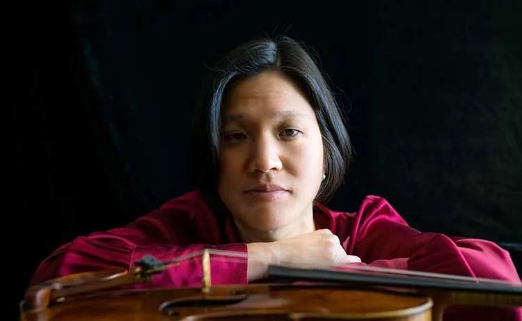 violinist Elizabeth Chang with violin
