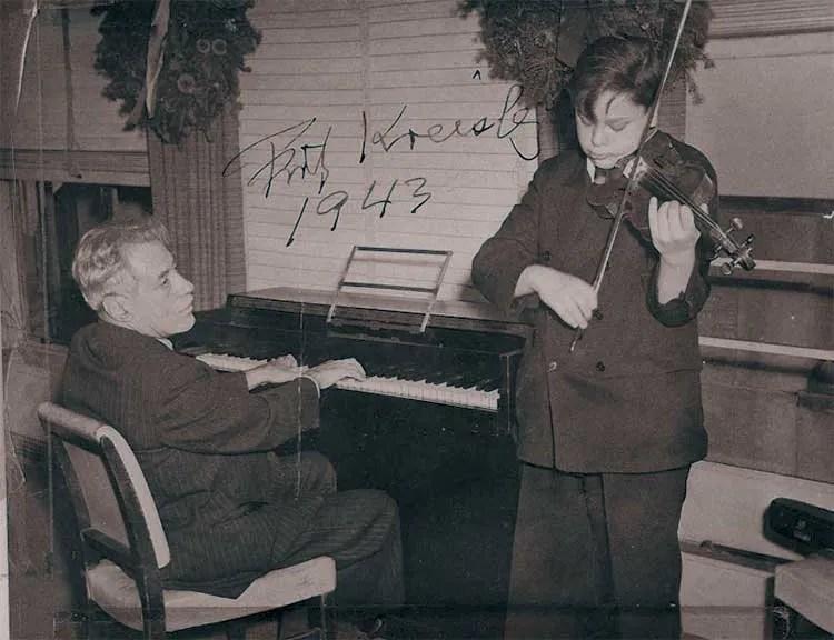 Fritz Kreisler accompanying a teenage Kenneth Gordon at NBC