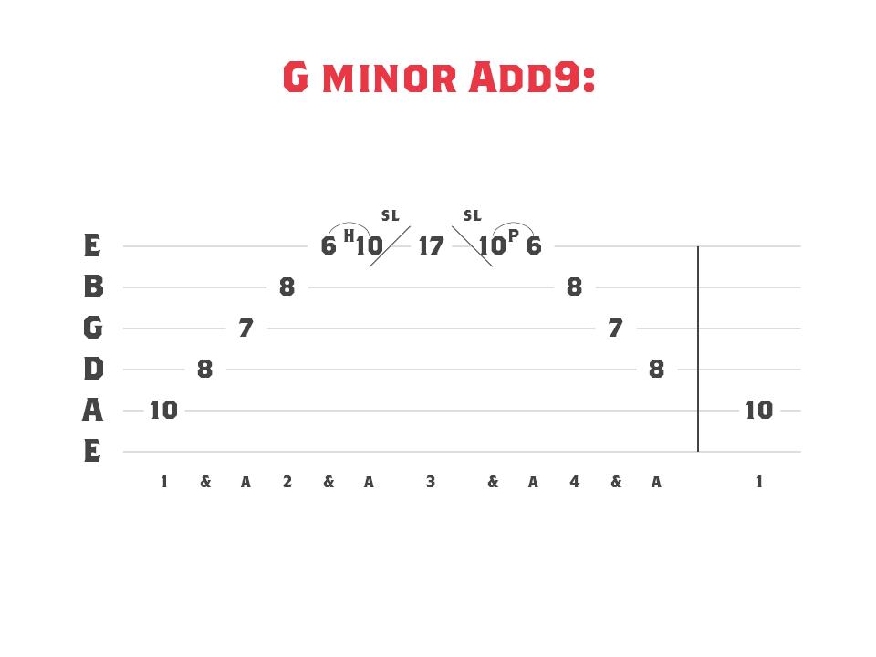A G minor, add 9 arpeggio.