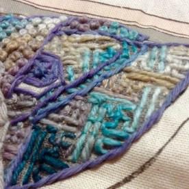Corner of a Kimono fabric