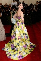 It might be that I'm loving bright prints right now, but Emmy Rossum's giant floral gown is on my favorites list. { Carolina Herrara }