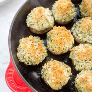 spinach and artichoke stuffed mushrooms recipe