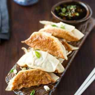 chicken and vegetable potstickers recipe