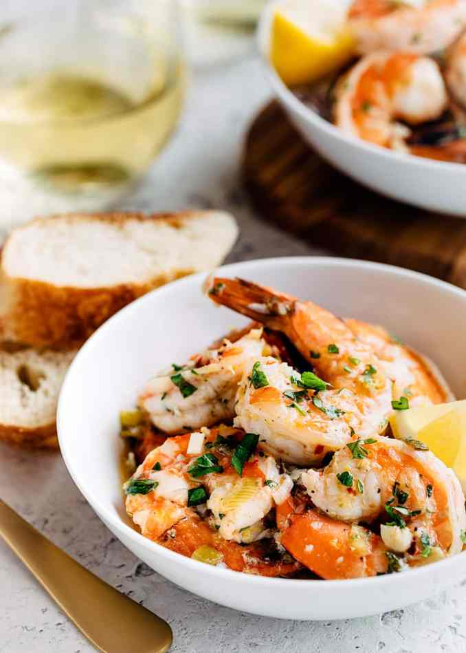 Easy Shrimp Scampi with White Wine and Lemon | Striped Spatula
