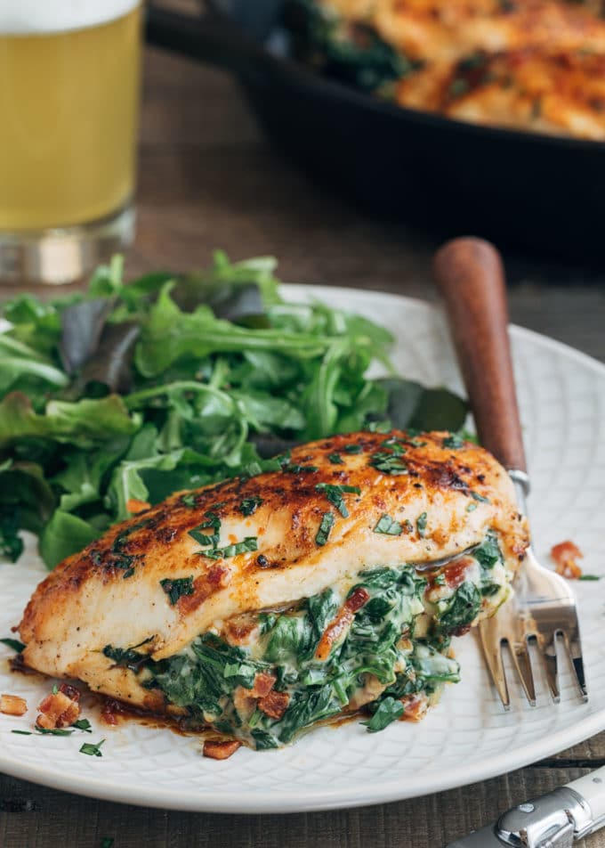 Cheesy Spinach Stuffed Chicken Breasts