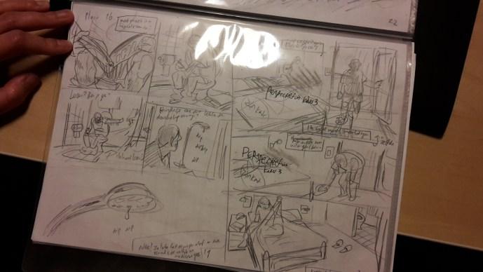 De ruwe schetsen van de samenwerking tussen Aimée de Jongh en Zidrou.