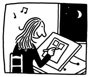 De 'spaghettilijn' van Barbara Stok zoals in het boek De Stripprofessor.