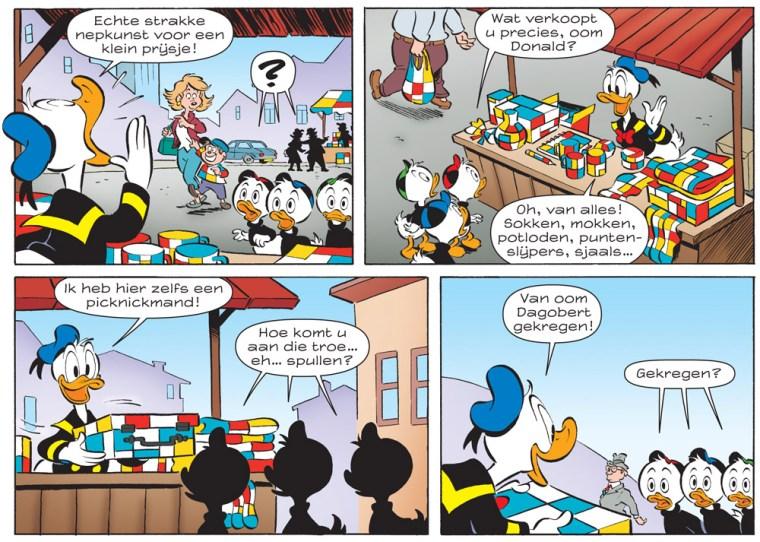 Donald Duck verkoopt Mondriaan