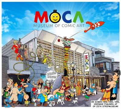 Logo van het nieuwe stripmuseum Museum of Comic Art.
