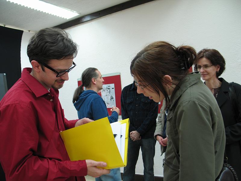 Filip Andronik i Aida Fazlić na otvorenju izložbe