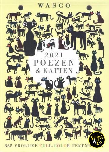 Poezen Katten scheurkalender 2021