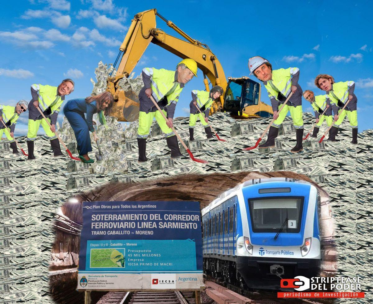 Macri, Calcaterra y Odebrecht, con ayuda de los K, enterraron 45 mil millones de pesos con el Soterramiento del Sarmiento