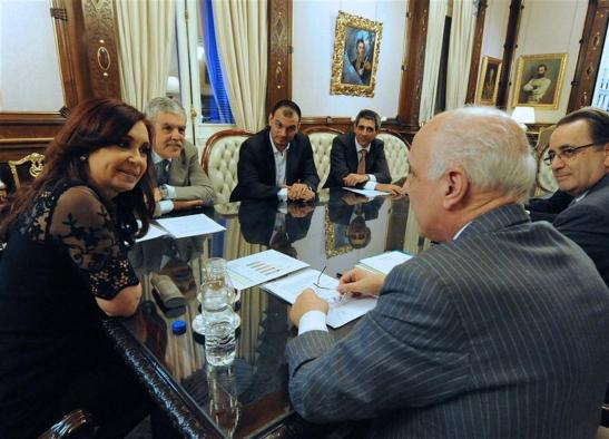 La ex presidenta Cristina Kirchner con Bulgheroni