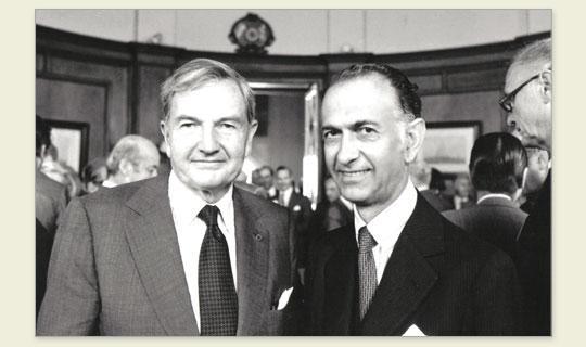 David Rockefeller y José Alfredo Martínez de Hoz