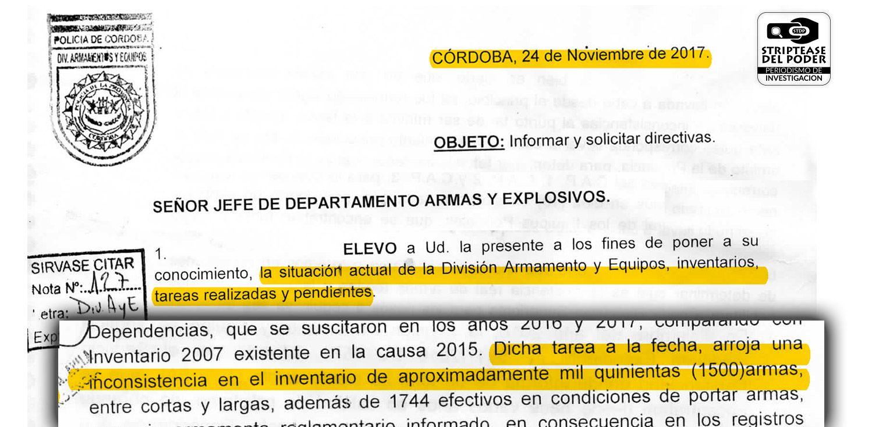 policía de Córdoba, enales 1.500 armas de guerra, desaparición de armas, armas, Marcelo Touriño, gobernador Juan Schiaretti, Gobernador de Córdoba
