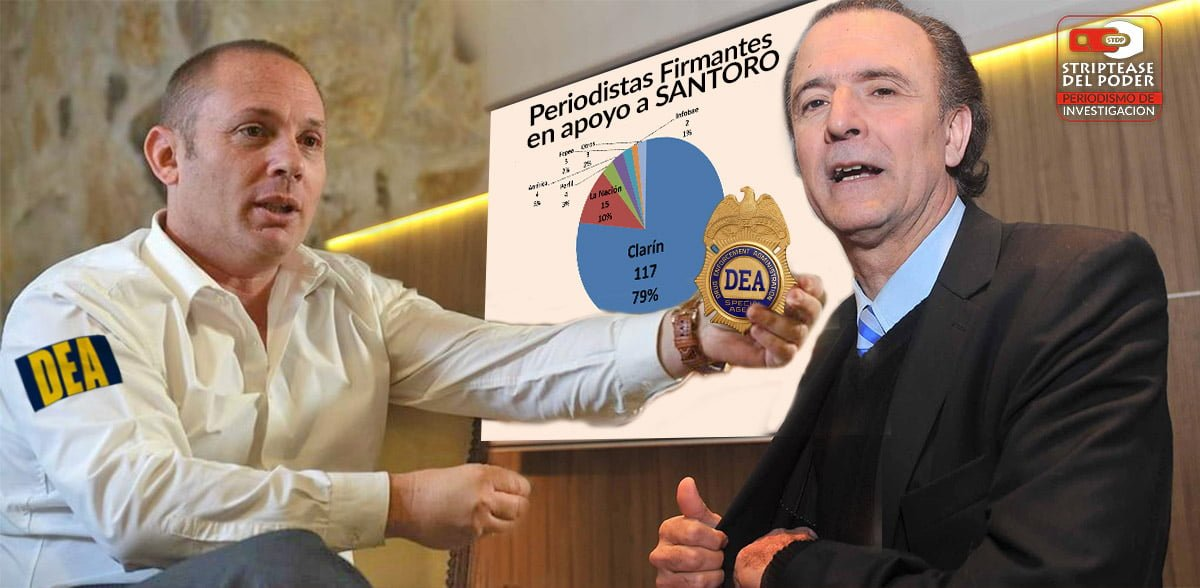 La patria periodística salió a defender a Santoro y encubrir al agente de la DEA D'Alessio