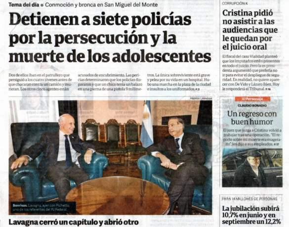 Clarín, Jaime Durán Barba, Nisman, Miguel Pichetto, Pato Bulrrich, juez Claudio Bonadio, Cambiemos, Macri, Comodoro Py