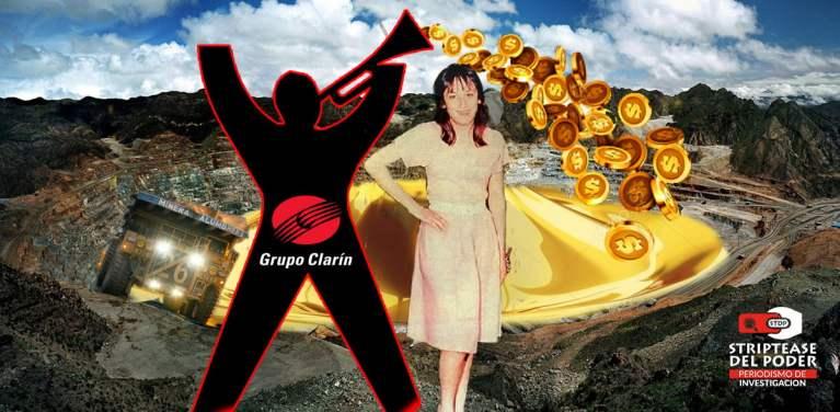 María Soledad Morales, Minera, Clarín, La Cumbrera, Oro