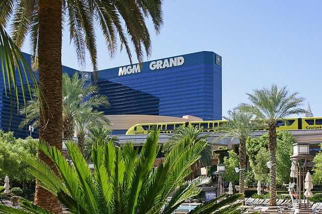 Monorail MGM Grnad Hotel Las Vegas