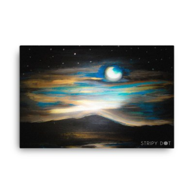 painting of a full moon