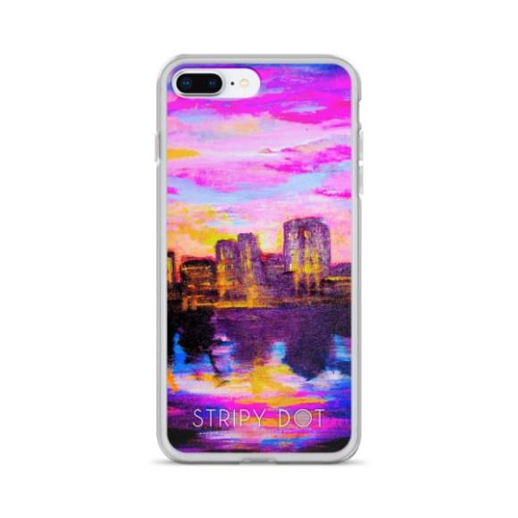 sunset city - iphone case image
