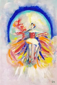 Image of Exotic Ballerina 24 x 36 Canvas by Deborah Kala