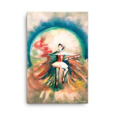 """Ballerina - 24"""" x 36"""" Canvas"""