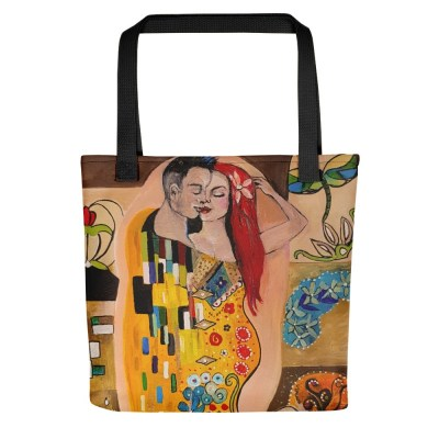 Klimt Inspired - The Kiss - Tote bag