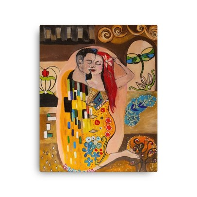 Klimt Inspired - The Kiss - Canvas