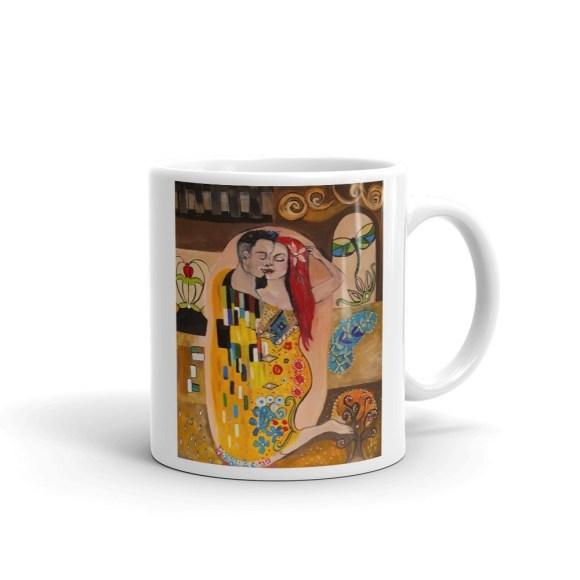 Klimt Inspired - The Kiss - Mug