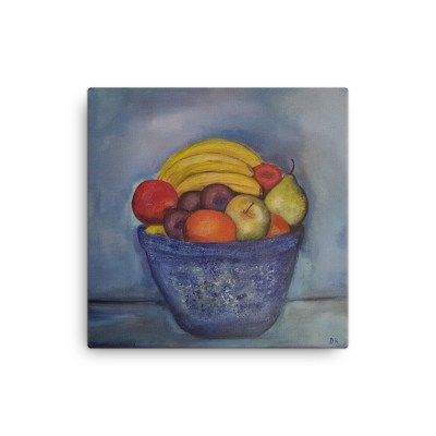 "Image of Fruit - 16"" x 16"" Canvas by artist Deborah Kala"