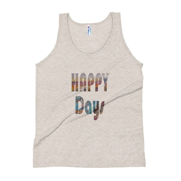 Image of Happy Days - American Apparel Unisex Tank Top by Stripy Dot