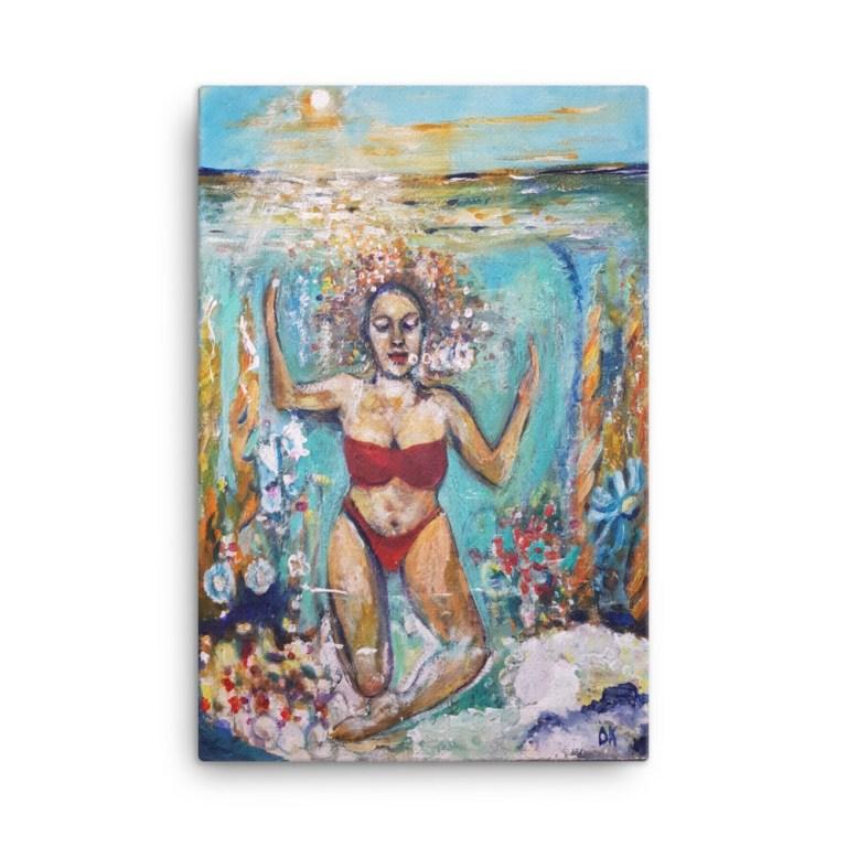 """Image of Hidden Treasure 24"""" x 36"""" Canvas - By artist Deborah Kala."""