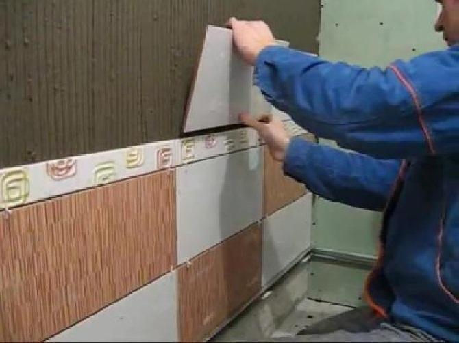 Colocação horizontal de telha