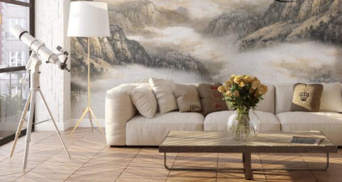 Τοιχογραφία σε ένα ευρύχωρο δωμάτιο
