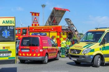 20160607, Tomelilla, Industrigatan 13,trafikolycka,2pb,minst en person förd med ambulans till sjukhus,
