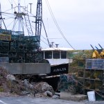 Lobster Boat Surrounded by Traps