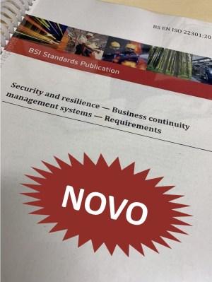 o que há de novo na ISO 22301:2019 Continuidade de Negócios STROHL Brasil