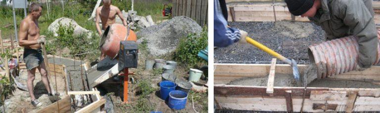 заливка бетона цена за куб вручную