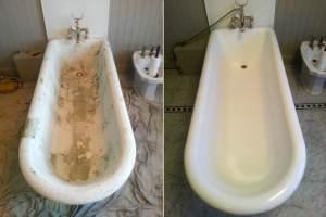 эмалирование чугунных ванн