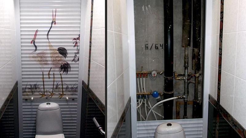 Методы маскировки труб в ванной комнате