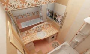 Декор стен в ванной комнате