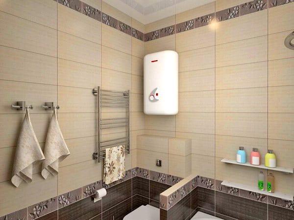 Водонагреватель в ванной