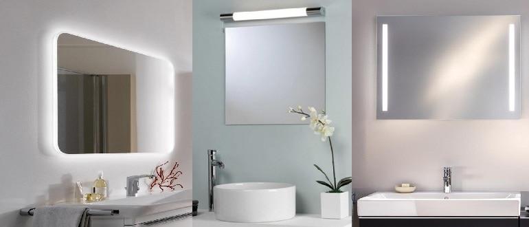 Виды подсветки зеркал для ванной комнаты