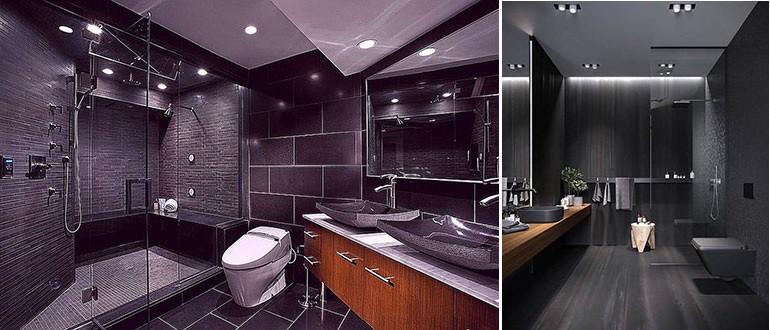 Примеры ванной комнаты в темных тонах