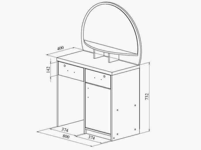 Мебель для ванной столик