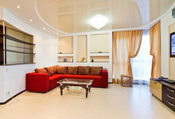 Гипсовые потолки (42 фото): дизайн красивых двухуровневых ...