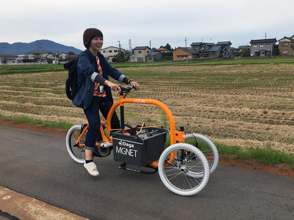 STROKEカーゴトライクを新潟県燕三条へ!ゲリラ試乗会3