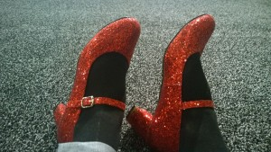 Wearing my red shoes at the International Stroke Conference about 20 minutes before this blog post!