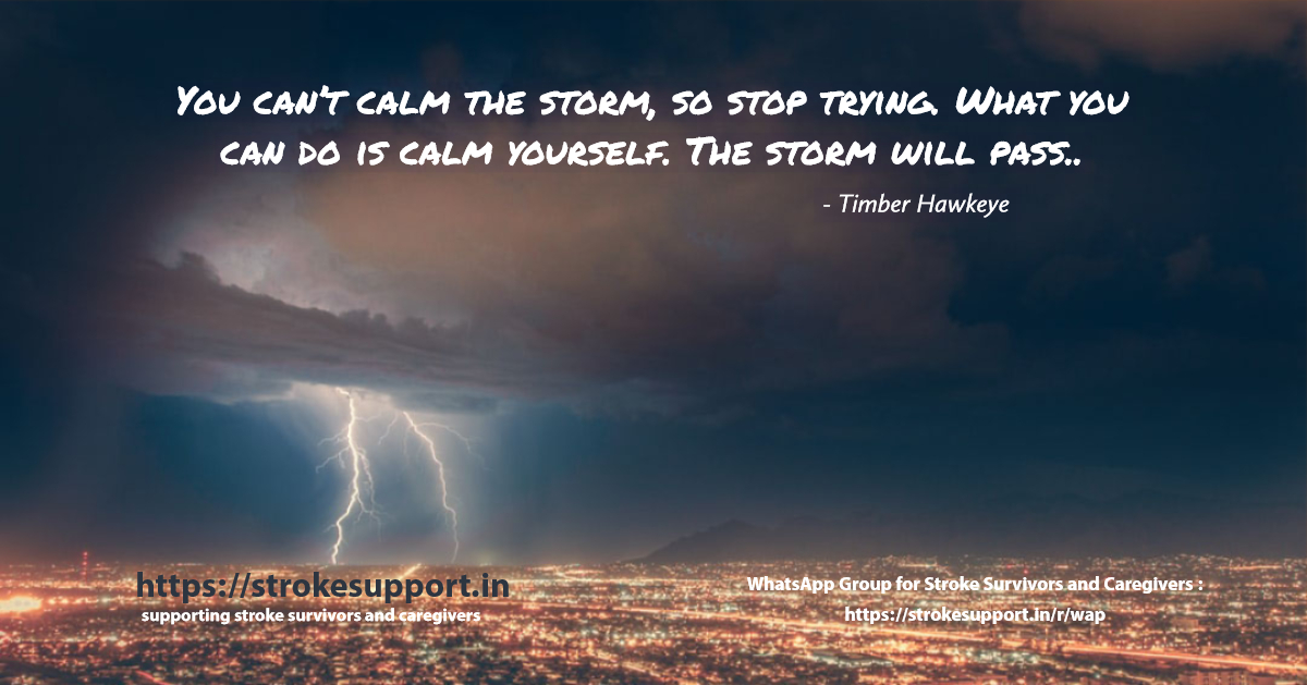 Deal calmly with the storm of stroke